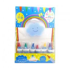 Kit pour écrire dans le bain avec éponge Bleu