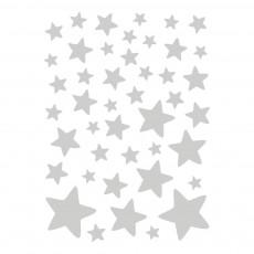 Stickers - Planche d'étoiles Argenté