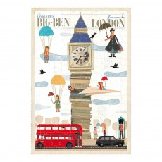 Puzzle London Multicolore
