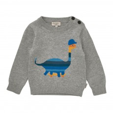 Pull Dinosaure Gris chiné