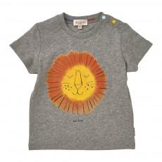 T-Shirt Lion Land Gris chiné