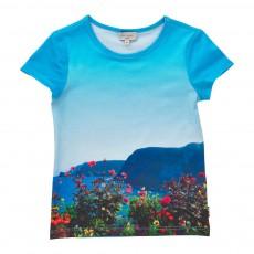 T-Shirt Paysage Loliana Bleu