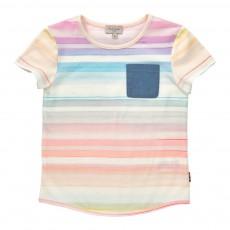 T-Shirt Rayé Lidy Blanc