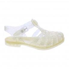 Sandales en plastique Doré