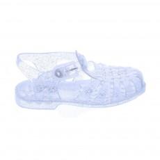 Sandales Pailletées en plastique Argenté