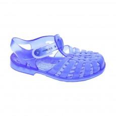 Sandales en plastique Bleu