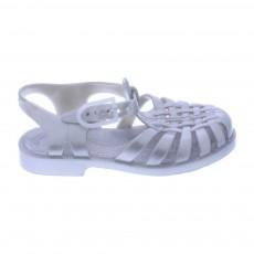 Sandales en plastique Argenté