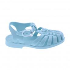 Sandales en plastique Bleu ciel