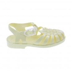 Sandales en plastique Jaune