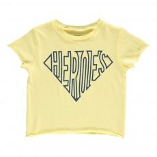 "T-Shirt ""Heroes"" Leo Jaune pâle"