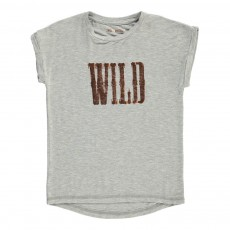 "T-Shirt ""Wild"" Irisé Boy Gris chiné"