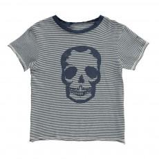 T-Shirt Rayé Crâne Kita Bleu marine