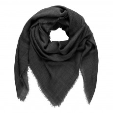 Foulard Laine Mill Gris anthracite