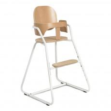 Chaise haute évolutive en bois et métal Blanc