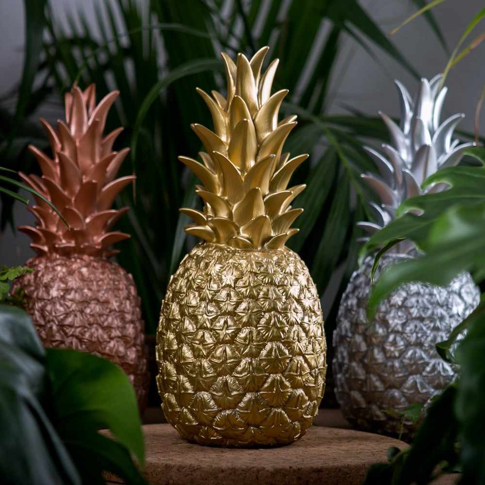 Lampe ananas or dor goodnight light d coration smallable for Ananas deco maison