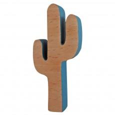Patère cactus Bleu pétrole