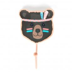 Patère ours indien Multicolore