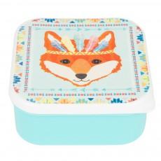 Lunch-box raton renard indien Bleu ciel