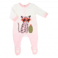 Pyjama Dégradé Tigre Rose pâle