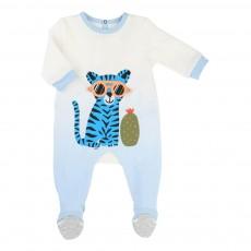 Pyjama Dégradé Tigre Bleu pâle