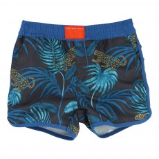 Short De Bain Tropical Bleu