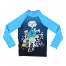 T-Shirt Anti UV Geek Bleu