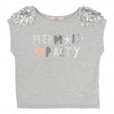 T-Shirt Lurex Mermaid Party Gris chiné
