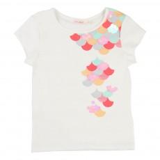 T-Shirt Ecailles Sequins Blanc