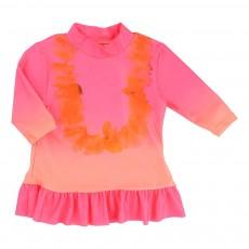 T-Shirt Anti-UV Volants Rose