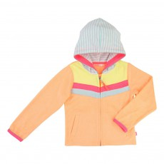 Sweat Eponge Capuche Orange