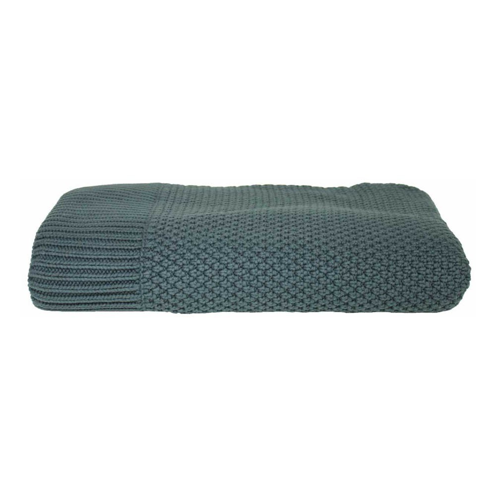 plaid en maille bleu marine lab d coration smallable. Black Bedroom Furniture Sets. Home Design Ideas