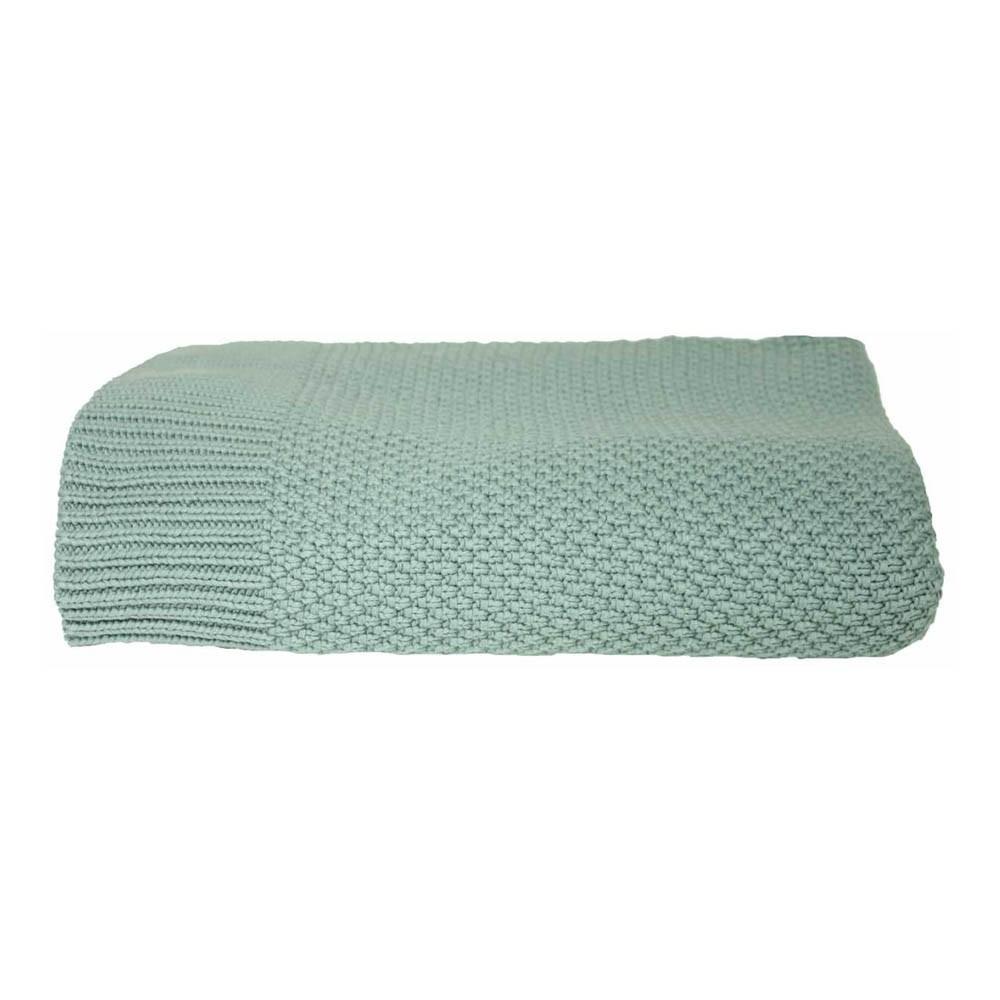 plaid en maille vert de gris lab d coration smallable. Black Bedroom Furniture Sets. Home Design Ideas