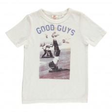 T-Shirt Skateur Acrobate Blanc