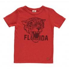 T-Shirt Léopard Rouge