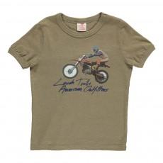 T-Shirt Motocross Vert kaki