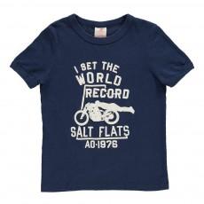 "T-Shirt ""World Record"" Bleu marine"