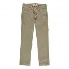 Pantalon Chino Vert kaki