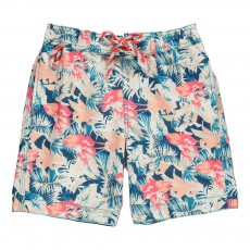 Short Bain Tropical Bleu