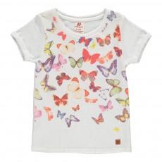 T-Shirt Papillons Blanc