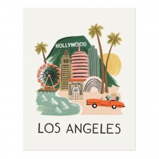 Affiche Rifle Paper Los Angeles - 28x35 cm