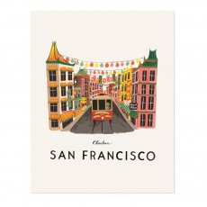 Affiche Rifle Paper San Francisco - 28x35 cm