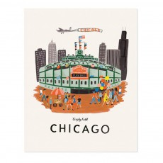 Affiche Rifle Paper Chicago - 28x35 cm