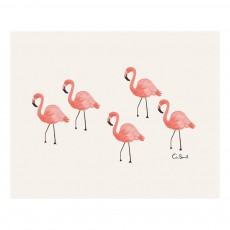 Affiche Rifle Paper Flamingo - 20,3x25,4 cm