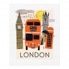 Affiche Rifle Paper Londres - 28x35cm