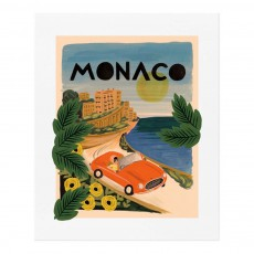 Affiche Rifle Paper Monaco - 28x35 cm