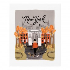 Affiche Rifle Paper New York automne - 28x35 cm