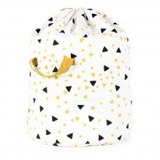 Sac de rangement triangles noir jaune