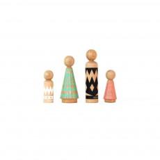 Personnages en bois Multicolore