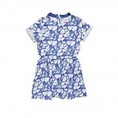 Robe Fleurs Elena Bleu