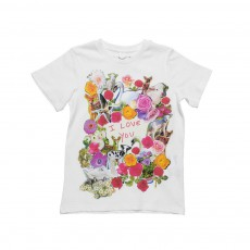 "T-Shirt "" I Love You"" Arlo Blanc"